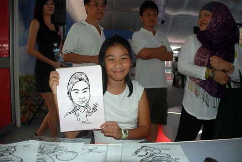 caricature live sketching for LG Infinia Roadshow - day 2 - f