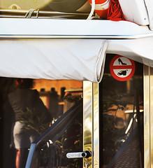 yacht club: divieti (fotoserra) Tags: sardegna barca yacht porta scarpe segnale specchio vetro alghero riflesso divieto scarpone tacchiaspillo