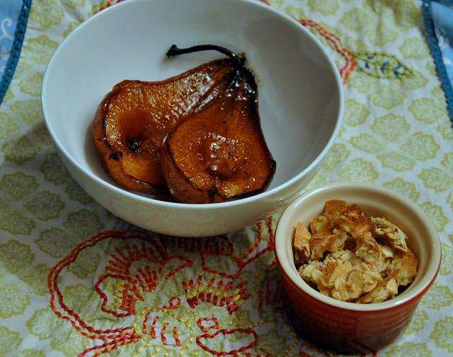 4633234363 b8c515ea5a z Amaretto Roasted Pears + Pssst. Birthday!