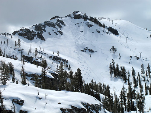 Tracks on Headwall