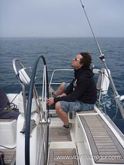 Navegando con las lanitas para generar viento aparente
