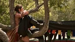 Waiting (marctonysmith) Tags: california usa man tree costume sitting olympus e3 70300mm zuiko renaissancefaire 2010 irwindale zd