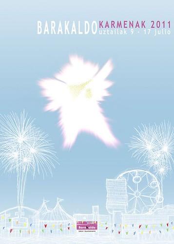 Cartel 1. Concurso Carteles de Fiestas de Barakaldo 2011