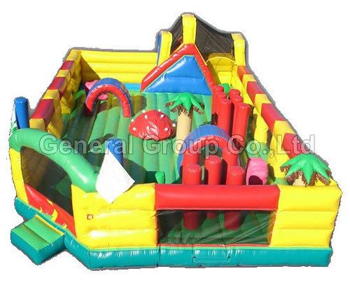Inflatable Funland GF-37 Playground 12mLx7.6mWx3.6mH