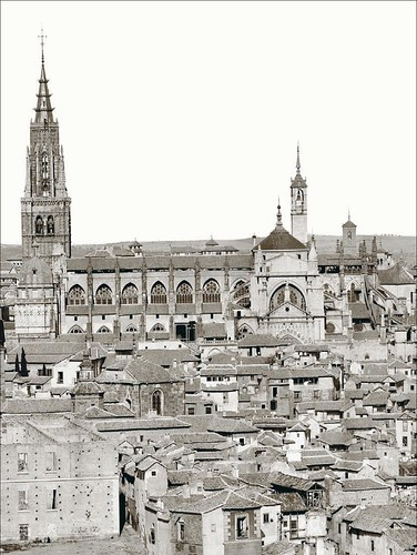 Catedral de Toledo en 1872. Foto de Jean Laurent. Archivo Ruiz Vernacci. Fototeca Histórica del Estado