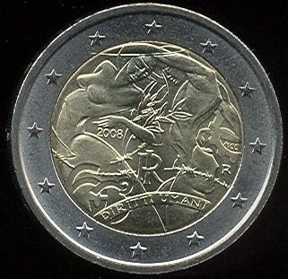 2 Euro Italy 2008