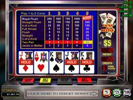 Jacks or Better Online Flash Slot Machine