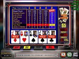 Jacks or Better Online Flash Slot Machine