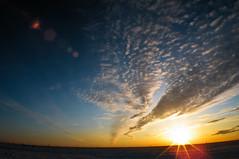 another day is gone (AgusValenz) Tags: blue sunset sky orange sun sol azul clouds landscape atardecer nikon angle wide paisaje cielo nubes coolpix angular kazakhstan naranja p80 explored   karabatan
