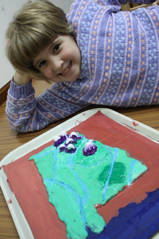 salt dough map with sprite