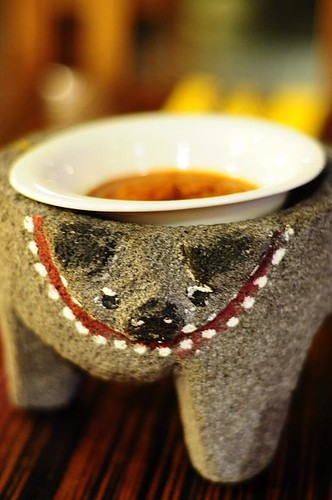 Cute Doggy Stone Holder for the Salsa