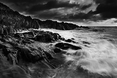 Stormy morning! (Suddhajit) Tags: uk longexposure morning winter sea storm monochrome landscape isleofman sigma1020 canoneos400d gnd09 suddhajit