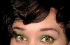 sectoral heterochromia (amorietti) Tags: brown green eye up eyes close heterochromia greeneyeshadow sectoral sectoralheterochromia