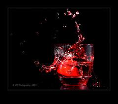 Red Splash (ICT_photo) Tags: red studio juice guelph sb600 d200 splash strobist ictphoto ianthomasphotography ianthomasguelphontario