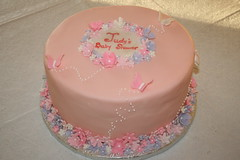 Feminine Baby Shower (irresistibledesserts) Tags: birthday pink baby girl cake butterfly shower bridal