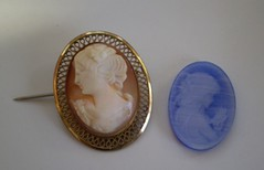 Carved Cameo on left, ultrasonic Cameo on right