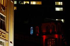 (Sergey Chernov) Tags: street city windows night moscow arbat