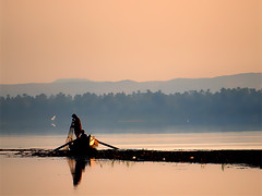 Nile Fishing - Egypt (landscape photography - sebastien-mamy.fr) Tags: morning nature sunrise river landscape fishing fisherman father egypt son nile professional sebastienmamy