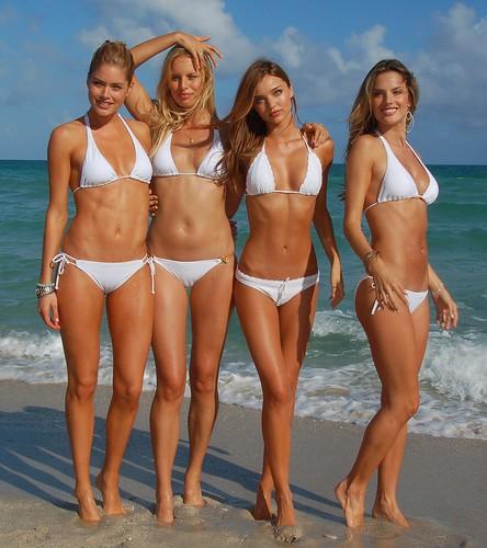 VS supermodels Doutzen Kroes, Karolina Kurkova, Miranda Kerr and Alessandra Ambrosio