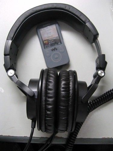 Sony Walkman S739F paired with Audio Technica ATH-M50