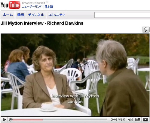 Interview of Jill Mytton by Richard Dawkins