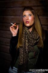 Sienna (Turbo Delta) Tags: wood uk england london film girl scarf photography model glamour photographer photoshoot cigarette smoke bricks sienna skirt smoking paula actress gilbert elegant 2008 corto ragazza inghilterra dario fumare carbone darioc