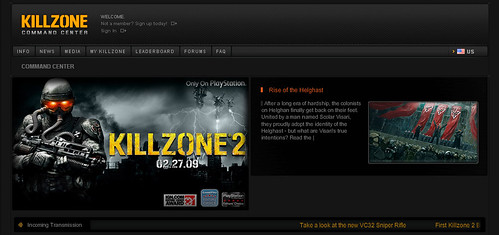 Killzone 2 Killzone.com screenshot
