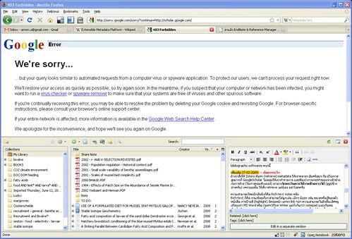 Google Scholar temporarily unavailable