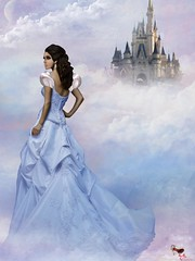 Cinderella (Erioxa) Tags: life blue moon castle clouds heaven moody princess dream disney sl secondlife second dreamy cinderella stiletto topgun eri laqroki erioxa