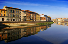 River Reflections - Pisa (albireo 2006) Tags: italien blue wallpaper sky italy reflection water wow river italia day background fiume clear pisa tuscany arno toscana toscane italie toskana      justpentax theperfectphotographer hccity