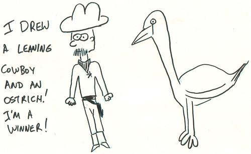 366 Cartoons - 066 - Cowboy and Ostrich