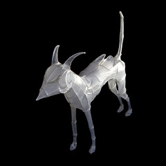 Paper and Wire Sculpture: Beetle-winged Moondog