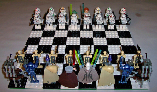 Lego star wars clone wars minifig chess set by brick alchemist