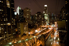 Night view from tram (saralovering) Tags: tram rooseveltisland 59thstreet