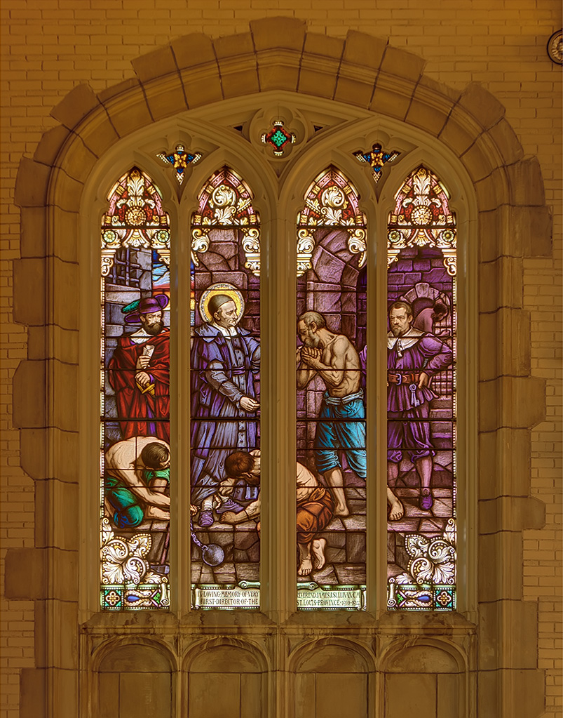 Former Daughters of Charity chapel, at the University of Missouri - Saint Louis, in Normandy, Missouri, USA - stained glass window 2