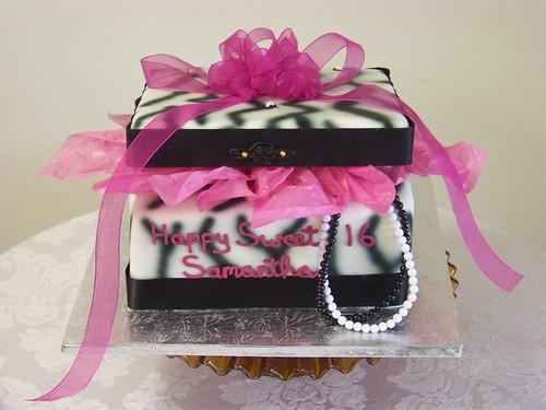 happy birthday cake 16. Box Sweet 16 Birthday Cake