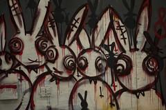 Feral bunnies (sengsta) Tags: bunnies graffiti feralbunnies