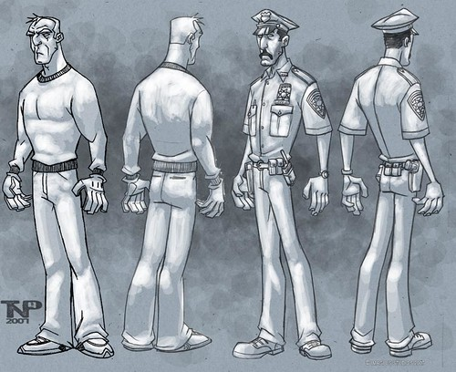 The art of ' TMNT '  :: Thief and COP ..Development designs  by Thomas Perkins (( 2005 - 2007 )) [[ Courtesy of Perkins ]]