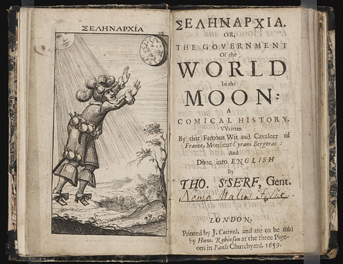 Selenarhia, or, The government of the world in the moon by Cyrano Bergerac, 1659 (Beinecke)