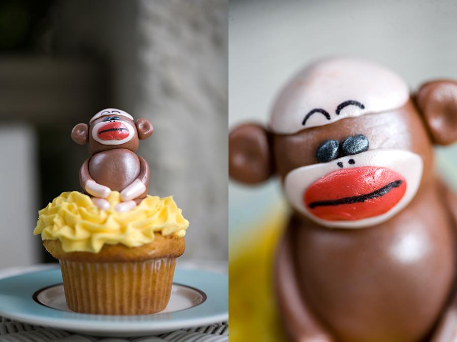 Bennett's 1st B-day Party- Sock Monkey Theme