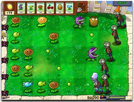 plants vs zombies sunflower. REVIEW: Plants Vs. Zombies
