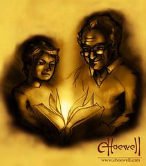 Avo e Neto (Eduardo Hoewell) Tags: old man children reading book grandfather read grandson livro criança velho vovô avô neto leitura