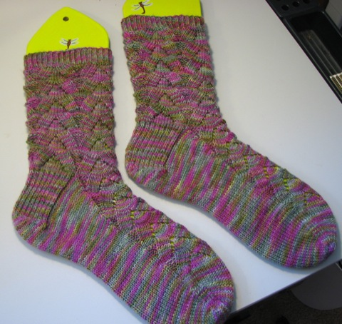 Spring Monkey Socks