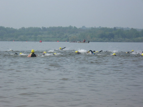 The start of the swim