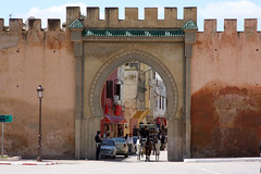 Gated Carriageway (MykReeve) Tags: horse wall geotagged gate carriage morocco meknes المملكةالمغربية المغرب مكناس geo:lat=33890822 geo:lon=556391