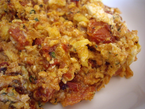 Scrambled Eggs and Tomatoes (Strapatsada)