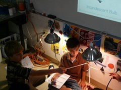 4/5 Technology student explore CFLs versus Incandescents - Envirotech