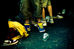 On The Sneak Tip (Air Adam) Tags: wood floor legs sneakers trainers nike stained adidas processed plasticcup eurocultured
