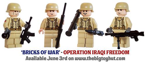 Bricks Of War - US Marines custom minifigs (Operation Iraqi Freedom)