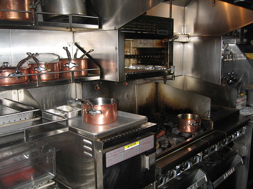 copper pots steel kitchen